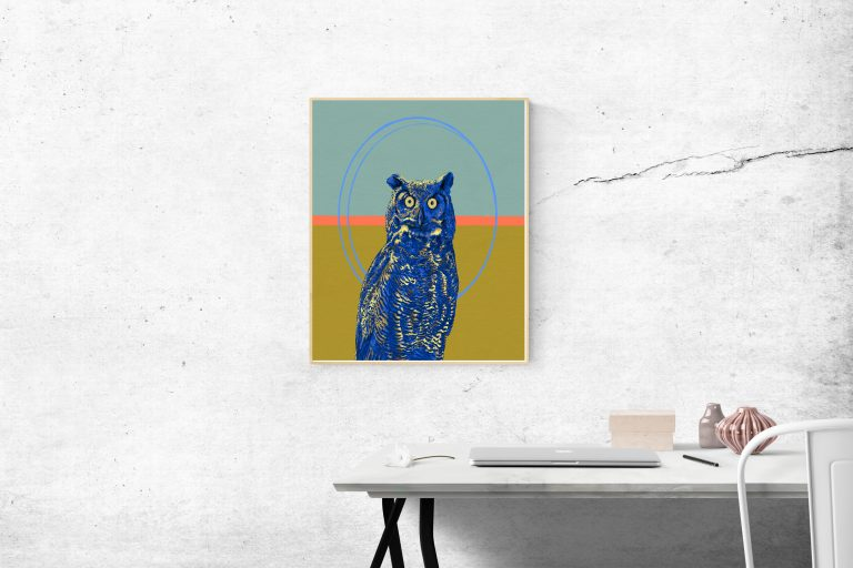 great horned owl frame 1